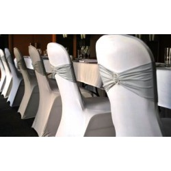 Location bandeau lycra + strass pour chaise