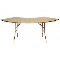 Location tables buffets 1/4 de rond rehaussées