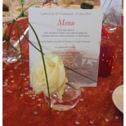 Location porte-menu boule à fleurir 8cm
