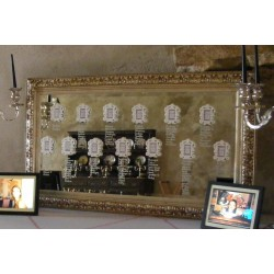 Location grand miroir baroque or