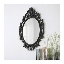 Location miroir baroque oval noir ou blanc