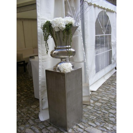 Location vase métal alu nickelé