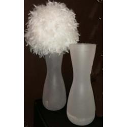 Location vase givré blanc 65cm