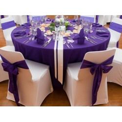Location nappe ronde 270 violet