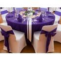 Location nappe ronde 270 violet