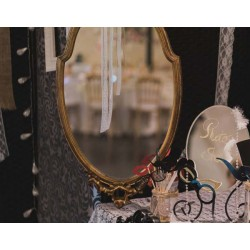 Location miroir baroque oval or