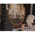 Location miroir baroque oval or