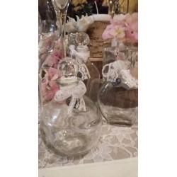 Location fioles vintage à poser en verre