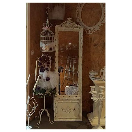 Location miroir baroque argent