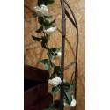 Location guirlande de fleurs blanches 180cm
