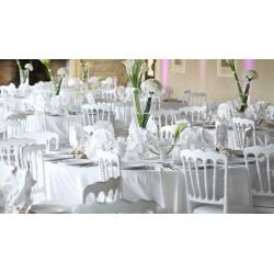 Location chaise napoléon blanche