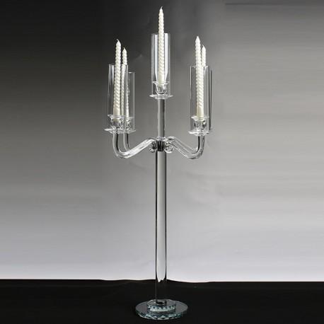 Candélabre 5 feux cristal
