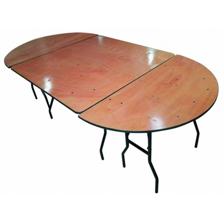 Location table ovale de 10 à 30 personnes
